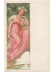 Art Nouveau postcard unsigned
