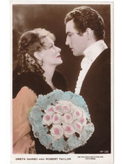 Greta Garbo and Robert Taylor Cinema Postcard