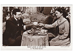 Mario Lanza and Ann Blyth Cinema Postcard