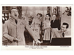 Mario Lanza and James Whitmore Cinema Postcard