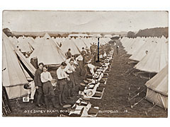 Military camp postcard OTC Oxney Farm