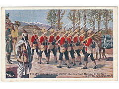 Military Art Postcard West Yorkshire Regiment
