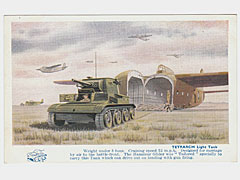 Military Art Postcard Tetrarch Light Tank