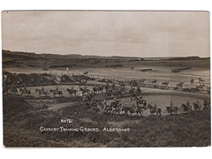 Cavalry training at Aldershot postcard