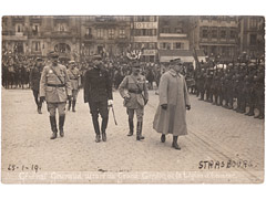 General Gouraud in Strasbourg postcard