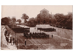 Garrison Parade, Woolwich Military Postcard