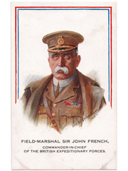 Field-Marshal Sir John French Art Postcard