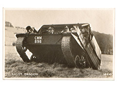 Light Dragon Tracked Vehicle Postcard