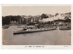 Furness Railway SV Tern in Bowness Postcard