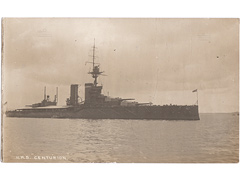 HMS Centurion Photgraphic Postcard