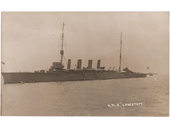 HMS Lowestoft Photographic Postcard