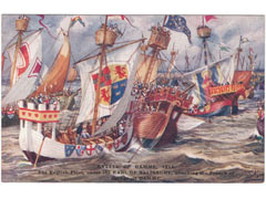 Battle of Damme art postcard