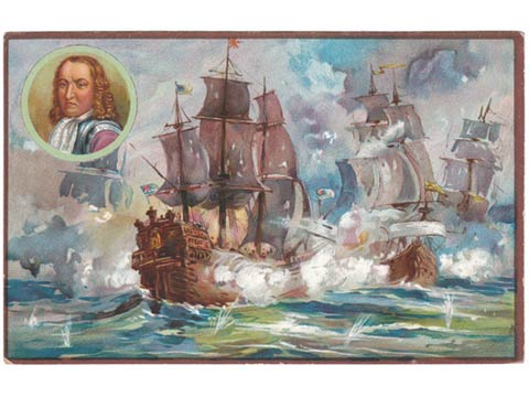 Naval Art and Advertising postcard