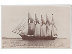 Photographic postcard of the Schooner - Inca