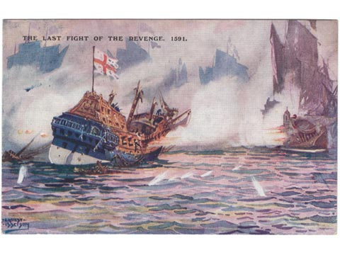 Product : Last Fight of Revenge 1591 Art Postcard : from the