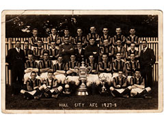 Postcard of Hull City AFC 1927-28