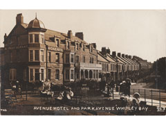 Whitley Bay Avenue Postcard - Northumberland