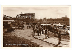Pleasure Park and beach - Aberdeen Postcard