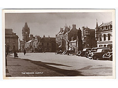 The Square in Huntly photographic postcard