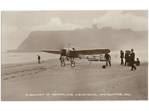 M.Salmet Aviator in Scarborough Postcard