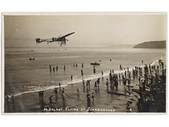 Salmet flying in Scarborough Postcard
