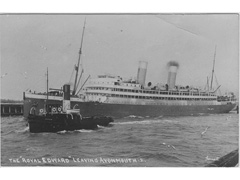 Shipping postcard RMS Royal Edward