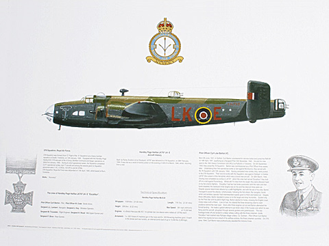 Handley Page Halifax 578 Squadron Gift Print