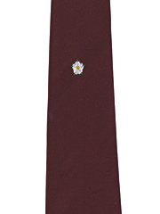 Yorkshire Crested Tie on Wine Background