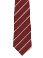 Duke of Wellingtons Regiment gold striped tie