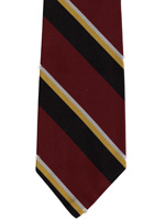 East Yorkshire Regiment  striped tie