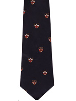 London University logo tie