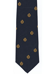 RAF Cap Badge logo on Navy tie