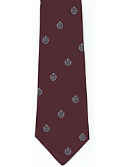 RAF Cap Badge on Maroon logo tie