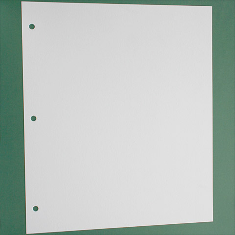 White Card for 3 Ring Binders - Interleaving
