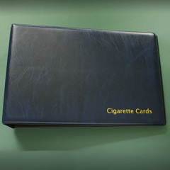 Cigarette Card Album - 2 Ring Binder - Blue