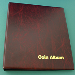 Coin Album - Classic - 3 ring binder and leaves