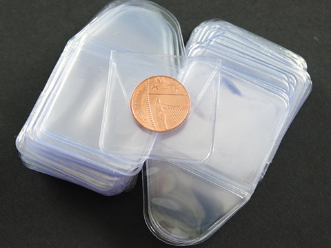 Small Soft Clear Plastic Coin Wallets