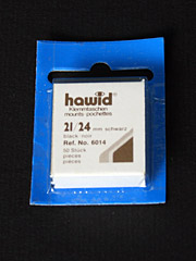 21 by 24 mm Hawid Cut to Size stamp mounts