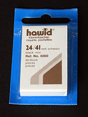 24 by 41 mm Hawid Cut to Size stamp mounts