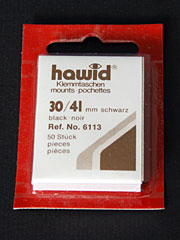 30 by 41 mm Hawid Cut to Size stamp mounts