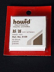 35 by 35 mm Hawid Cut to Size stamp mounts