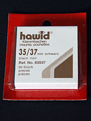 35 by 37 mm Hawid Cut to Size stamp mounts