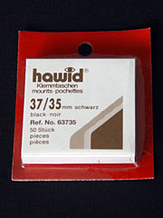 37 by 35 mm Hawid Cut to Size stamp mounts