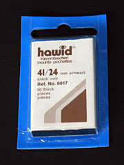 41 by 24 mm Hawid Cut to Size stamp mounts