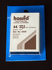 41 by 27.5 mm Hawid Cut to Size stamp mounts