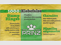 Prinz, gummed, peelable, stamp hinges