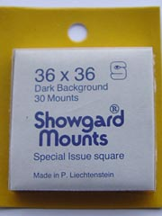 Showgard 36mm square stamp mounts