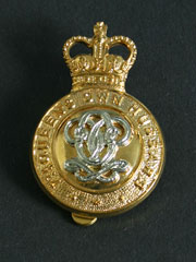 7th Queens Own Hussars, Queens Crown Cap Badge