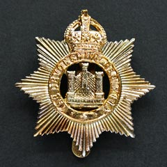 Devonshire Regiment KC Cap Badge