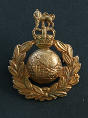 RM Gilt type Cap Badge